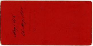 Rijtuig voor villa te Baarn, 26 augustus 1894 (achterkant)