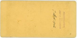 Gezelschap met stoombootje in sluis, 7 september 1902 (achterkant)