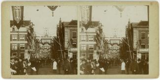 Feesten te Amsterdam, bezoek koningin Wilhelmina en Prins Hendrik, maart 1901
