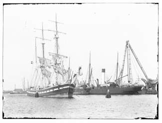 Composietbark 'Baarn' (1879-1899), reder J.F.Meursing, Amsterdam.