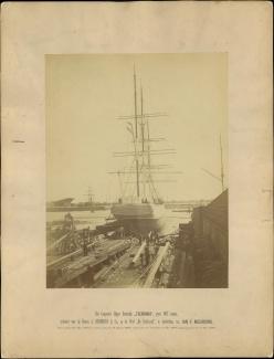 Het clipper barkschip Tjerimai, 3 mei 1883